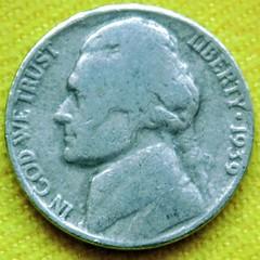 1939 Henning nickel obverse
