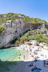 Strand Stiniva auf der Insel Vis, Kroatien
