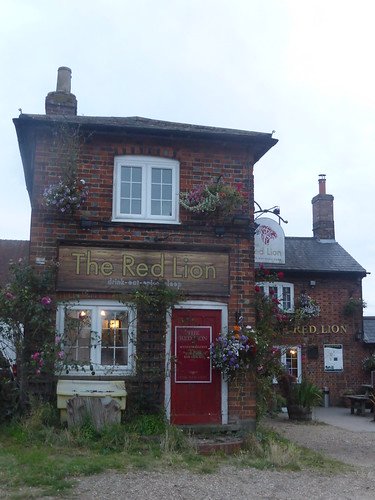 No time to stop at the Red Lion, Great Offley