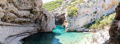Cliffs at Stiniva Bay on Vis island, Croatia