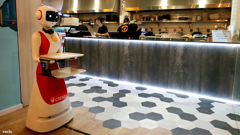 restaurante Crensa Valencia camareros robots