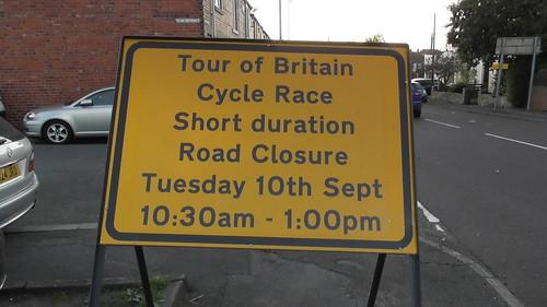 Tour of Britain road closure sign Sept 19 (1)