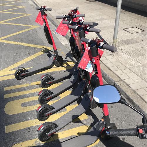 Euskooters en Getxo, experiencia piloto con 90 patinetes eléctricos