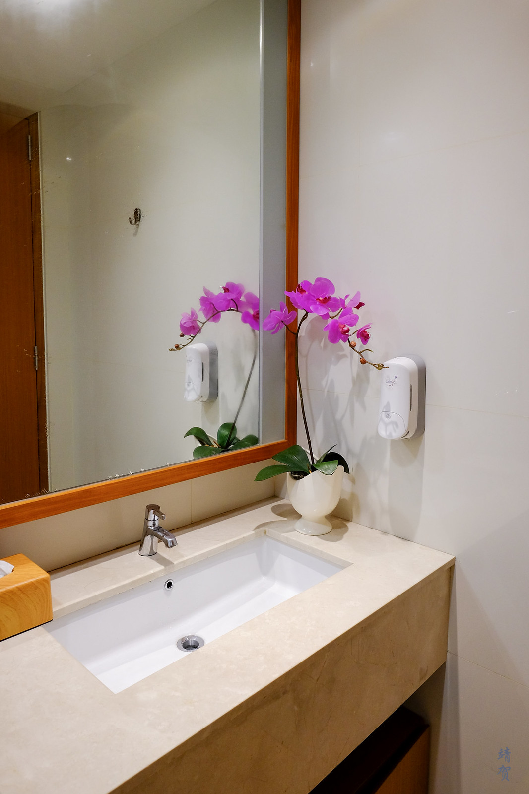 Washbasin in the shower room