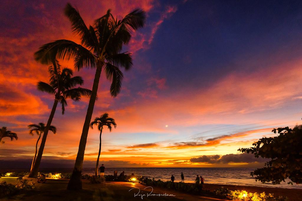 Beach Sunset   Maui Sunset in Kaanapali beach   Raja Ramakrishnan   Flickr