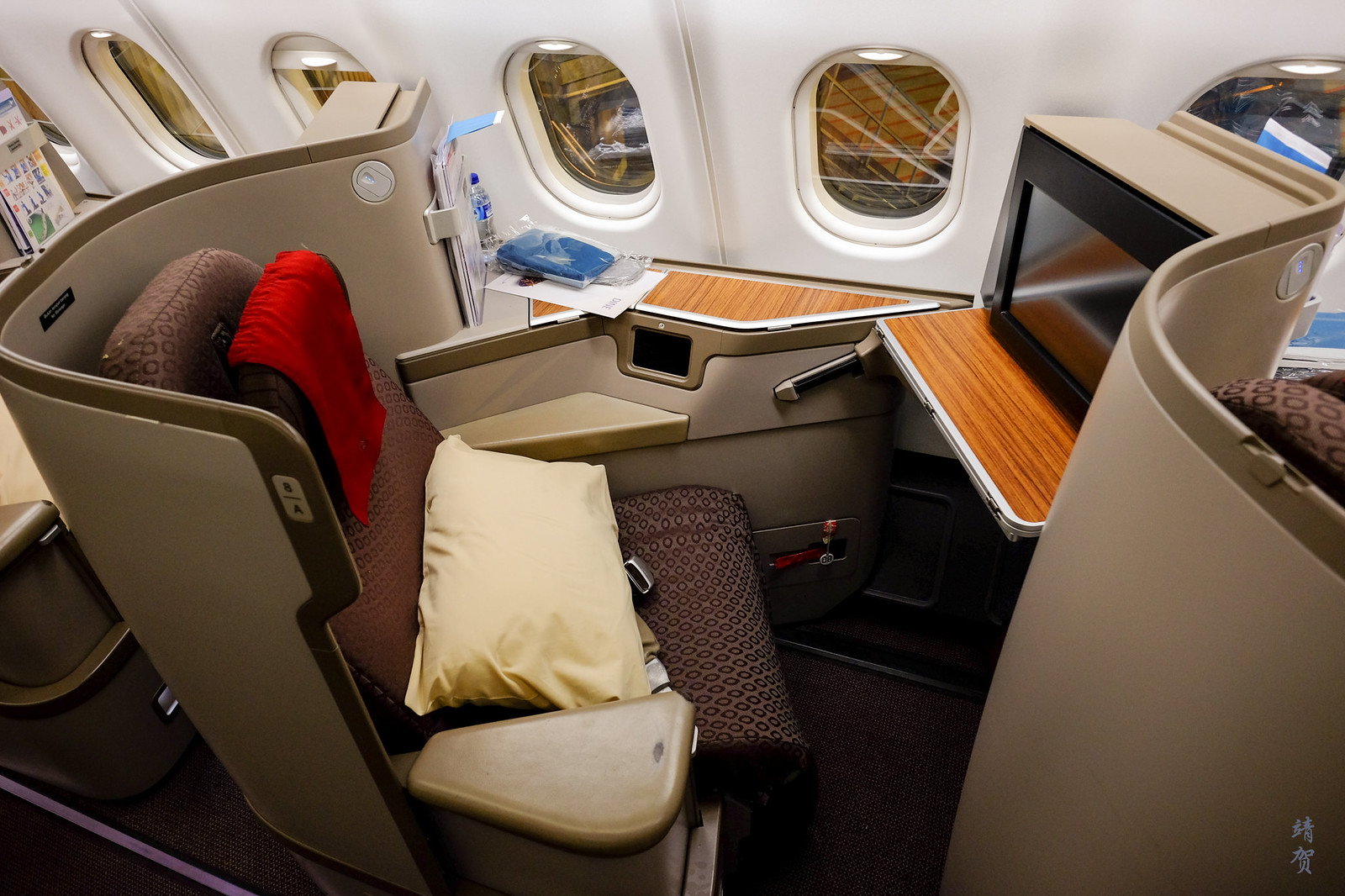 Window Business Class seat