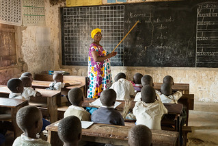 School principal at the blackboard | by Global Partnership for Education - GPE