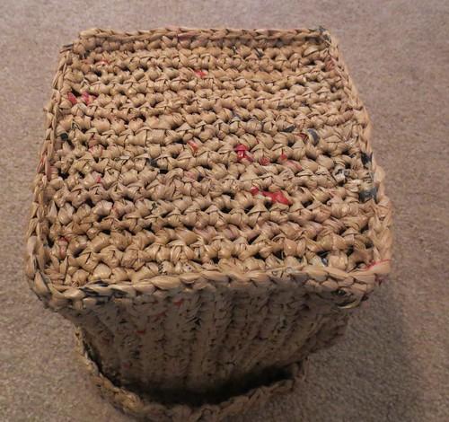Plastic Bag Yarn Basket Bottom