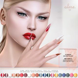"Alme for Belle Events - ""Mesh Stiletto nails// Fall 19"" ♥"