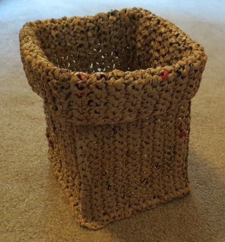 Crocheted Plarn Basket