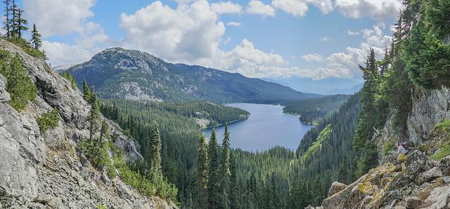 Hiking down to Callaghan Lake, BC, Canada