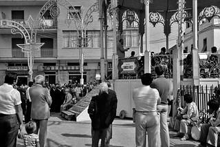 1981 il M°Gioacchino Ligonzo con la Banda di Ceglie Messapica a Casamassima