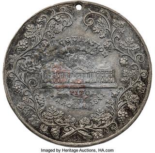 William Henry Harrison Inauguration Medal reverse