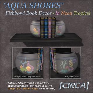 "For Syndicate Sunday   [CIRCA] - ""Aqua Shores"" Fishbowl Book Decor - Neon Tropical"