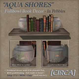 """For Syndicate Sunday   [CIRCA] - """"Aqua Shores"""" Fishbowl Book Decor - Pebbles"""