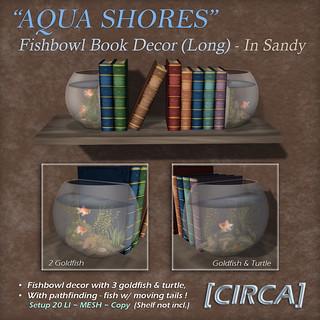 "For Syndicate Sunday   [CIRCA] - ""Aqua Shores"" Fishbowl Book Decor Long - Sandy"