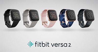 Fitbit Versa 2 smartwatches.