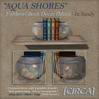 "For Syndicate Sunday   [CIRCA] - ""Aqua Shores"" Fishbowl Book Decor Mini - Sandy"