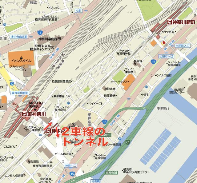 2車線のトンネル