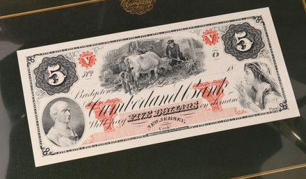 ABNCO American Bank Note Collection Cumberland bank note
