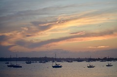 Sunset over Manhasset Bay