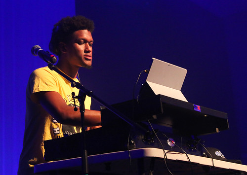 DJ Cray Zay cranks the tunes at Late@Lane's BURGFest