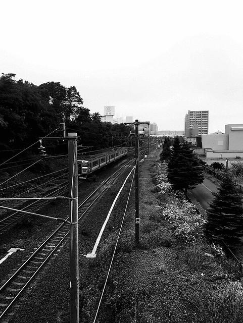 Unfuzzy Local Train Near Kitahiroshima Station