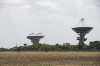 The older Pluton (АДУ1000, to the left) composed of 8 antenns and newver RT70 (П2500, next pic) radio telescope complexes were used for the majority of a Soviet Deep space missions from 1960 y.