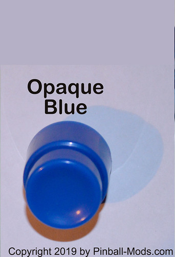 Pinball Button - Opaque Blue
