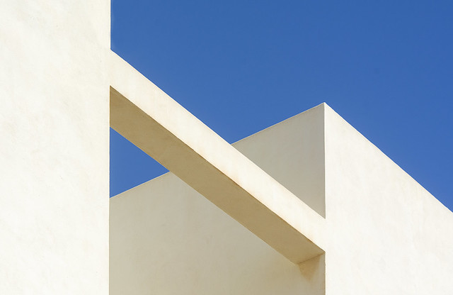 Composition in white and blue