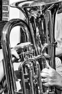 Self playing tuba.