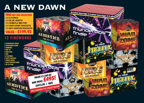 NEW FOR 2019 - A New Dawn 1.3G Fireworks Selection Pack