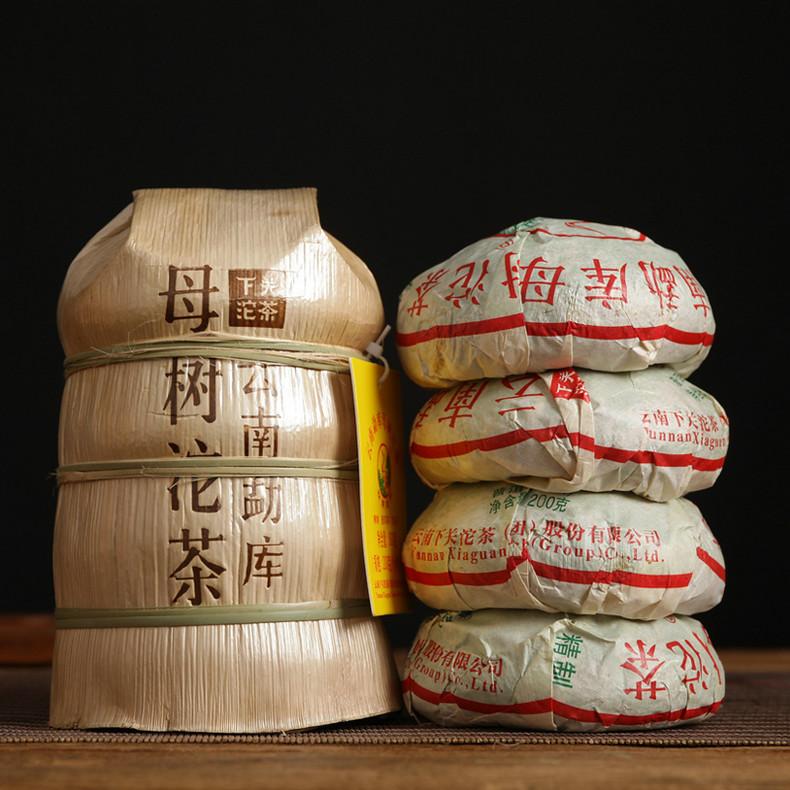 """2019 XiaGuan """"Mu Shu Tuo Cha"""" (Mother Tree Tuocha) Bowl 200g Puerh Raw Tea Sheng Cha"""