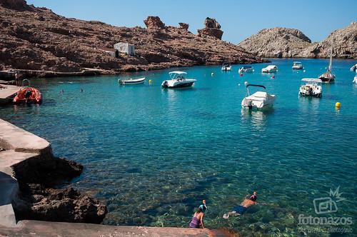 Cala Morell al norte de Ciudadela, Menorca