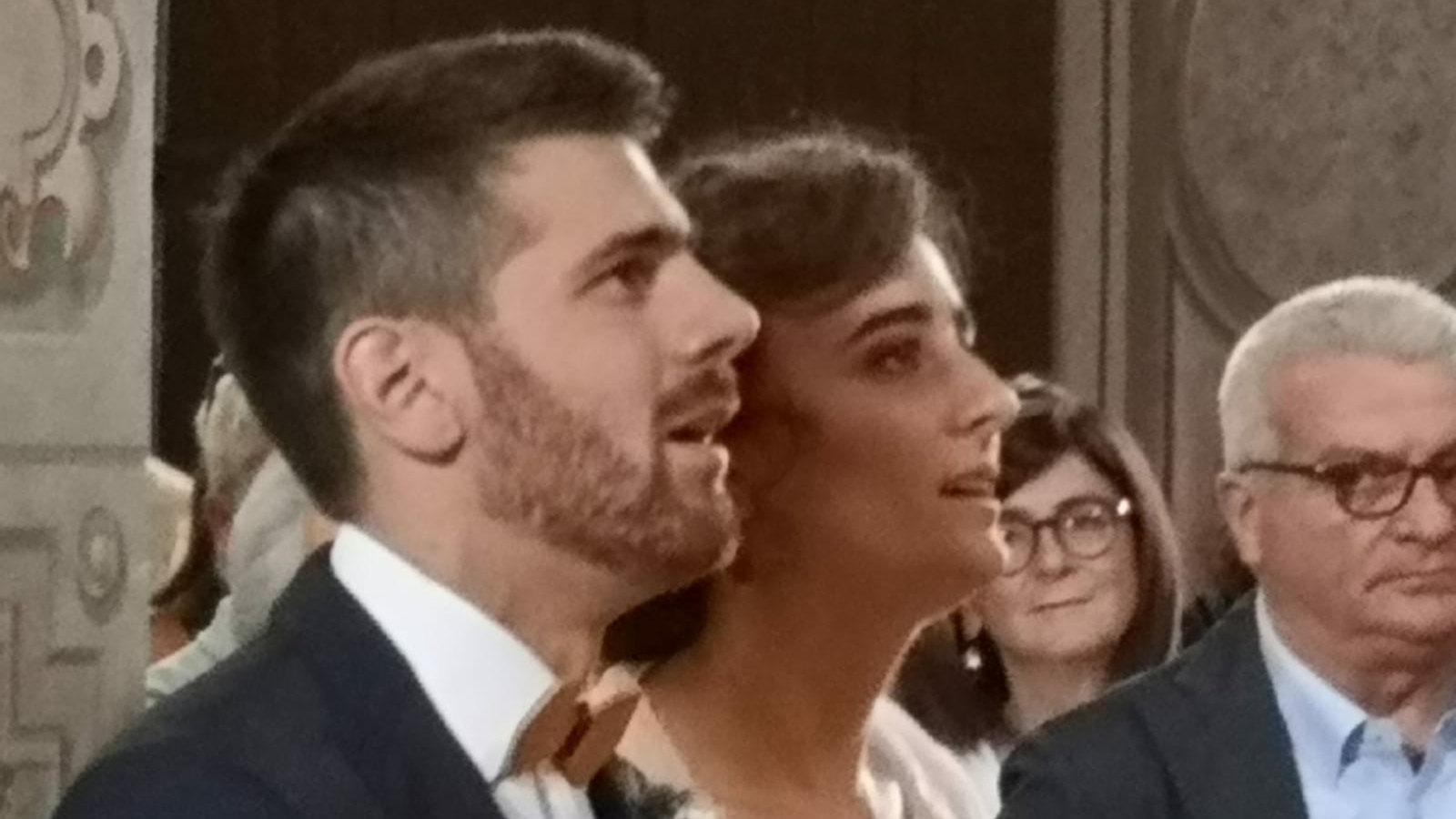 Gli sposi Margherita e Francesco