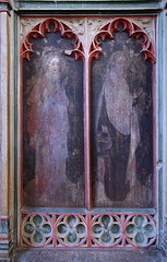south aisle screen: St Bartholomew and St Philip