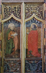 roodscreen: St Bartholomew and St Jerome/Matthias