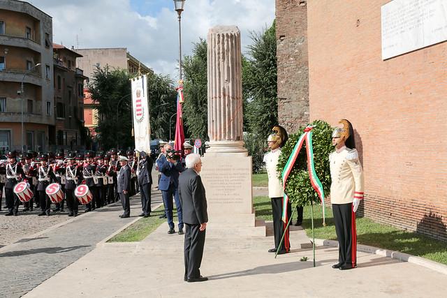 76° anniversario Difesa di Roma Mattarella a Porta San Paolo e a Parco della Resistenza (13)