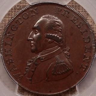 1791 Washington Cent, Small Eagle obverse
