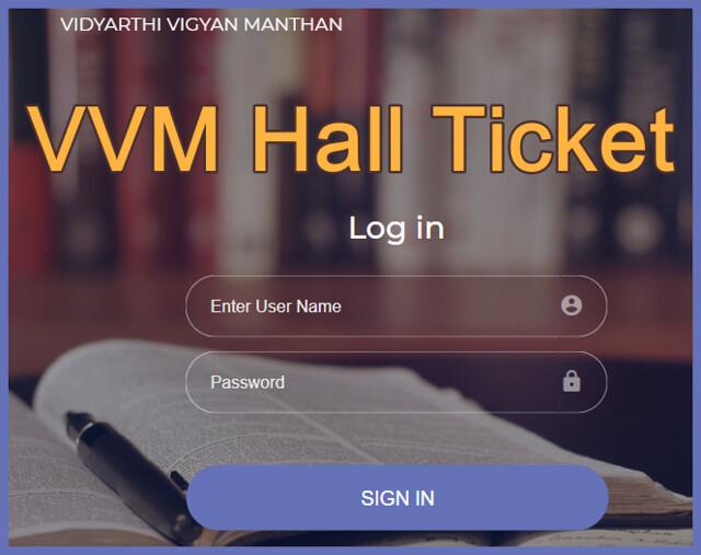 VVM Hall Ticket