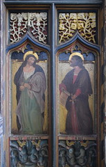 roodscreen: Man of Sorrows and St Paul