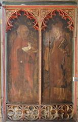 south aisle screen: St John the Baptist and St John the Evangelist