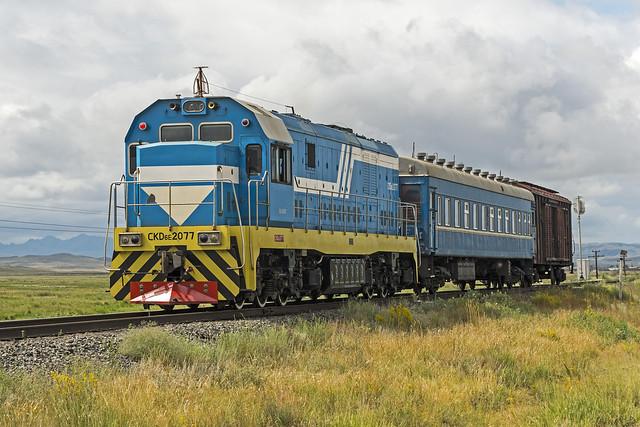 KTZ rail worker's train