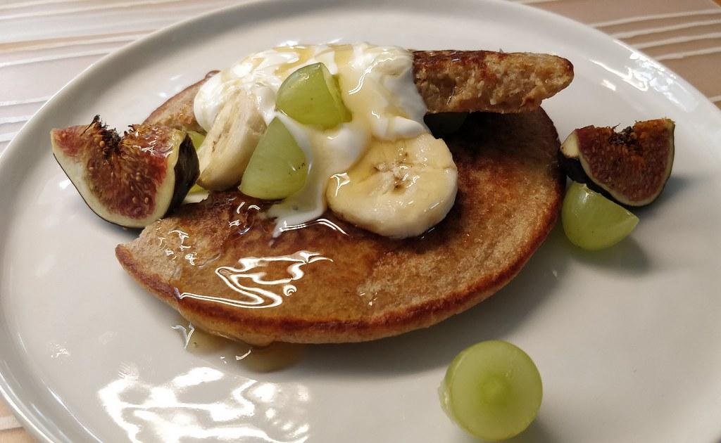 Haferflocken-Bananen-Pancakes