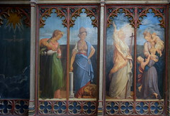 tower screen: Compassion, Fortitude, Faith, Charity