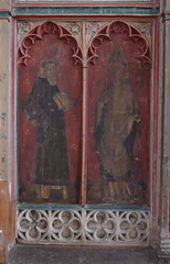 south aisle screen: St Lawrence and St Thomas of Canterbury