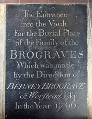 the entrance into the vault of the family of Brograves