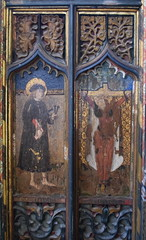 roodscreen: St William of Norwich and St Uncumber