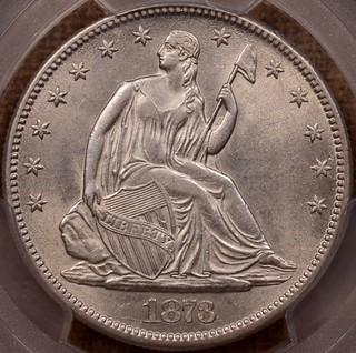 1873-CC No Arrows Seated Half obverse