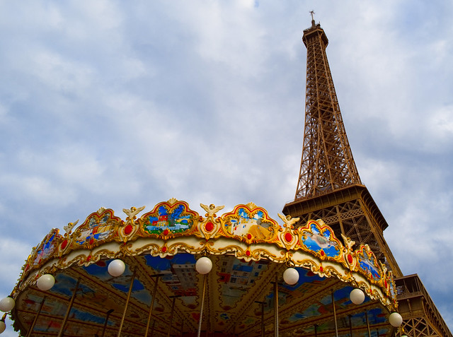 Parisian Pleasures - The Eiffel Tower and Carousel XI